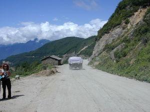 Mountain view on the road from Chengdu/Ya'an to Dartsedo [mda' rtse mdo].
