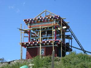 Structure on top of Nunnery hillside for Khenpo Jikme Phutshok, the founder of Larung Gar relilgious settlement, to reside while teaching nuns.
