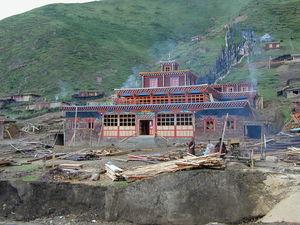 The Assembly Hall at the Lay Religious Center at Larung Gar [bla rung gar].