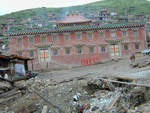 Unidentified building in central part of Larung gar.