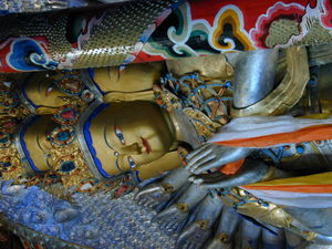 Detail of the statue of 1000-armed, 1000-eyed Avalokitesvara.