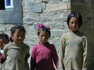Tibetan children at the monastery.