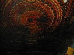 A mural of a mandala.