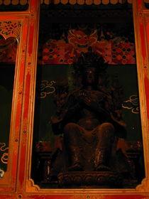 A statue of the future Buddha Maitreya.