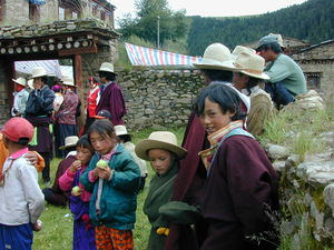 Nomad children waiting for the religious dances to begin.