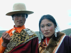 A young Tibetan couple.