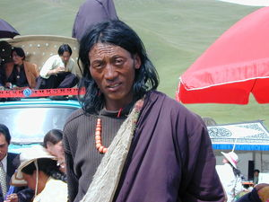 A long haired nomad man.