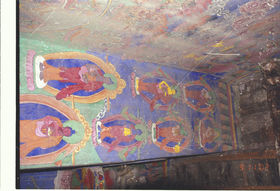 A mural painting in {rad nas} Monastery. (Tiyak, China)