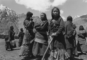 Women of Samling village where we camped for several days.