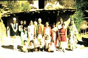 A three-generation joint family in village