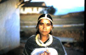 Damai (Dalit) woman displays her jewellery