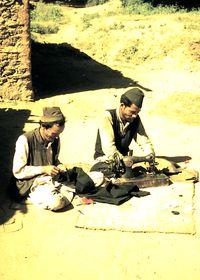 Village tailors, members of the Damai (Dalit) caste