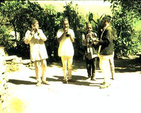 Damai (Dalit) caste members are tailors and musicians