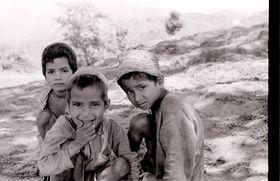 Three young village boys
