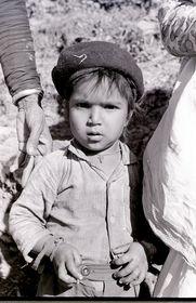 Village boy with beret