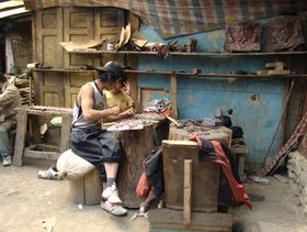 Artisans working at Lhagang Monastery
