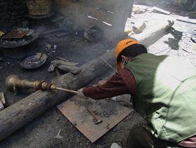 Construction at Lhagang Monastery