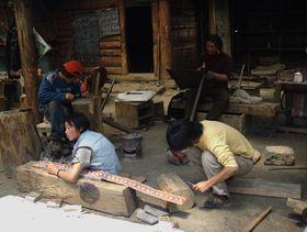 Tibetan artisans producing at Lhagang Monastery
