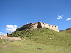 View of Poto Monastery from below.