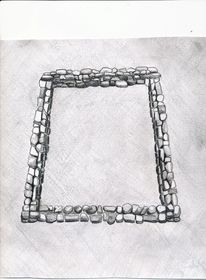Type II.2b. Double-course quadrate enclosure with well developed walls; a reconstruction of the basal structural elements (drawn by Kleo Belay)