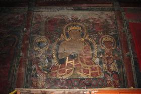 Tibetab style mural paintings in Drotshang Dorje Chang Monastery (Drotsang  Gön, China)