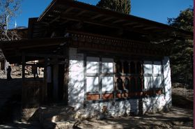 Front view of Dechenling Lhakhang