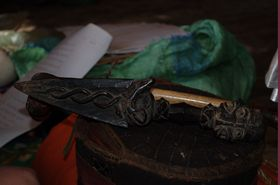 Three-sided dagger made by Pema Lingpa ་