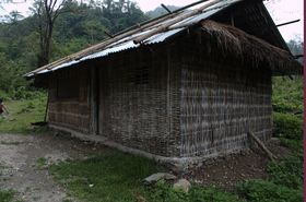 Traditional bamboo hut