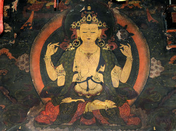 Detail of Chenrézig Chakzhipa.